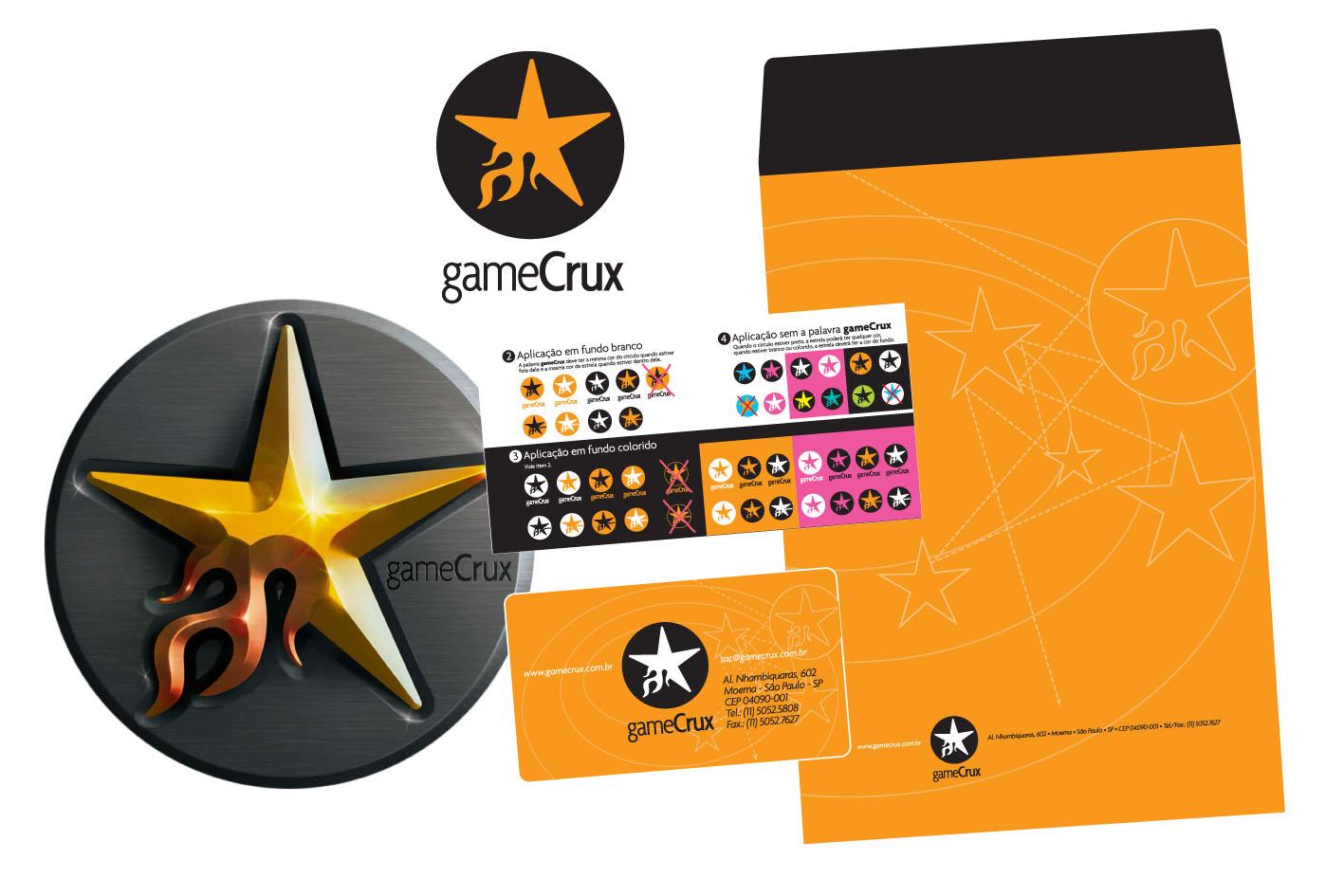 Criação da logomarca e papelaria Gamecrux