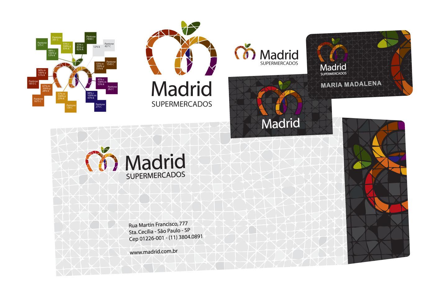 Criação da logomarca e papelaria Madrid