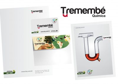Criação da logomarca Tremembé, cartão de visita, papel carta, envelope e porta amostras