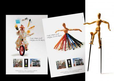 Campanha institucional – Pintar materiais artísticos