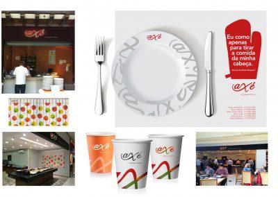 Programação visual do Axé restaurante
