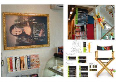 Programação visual da loja Pintar materiais artísticos