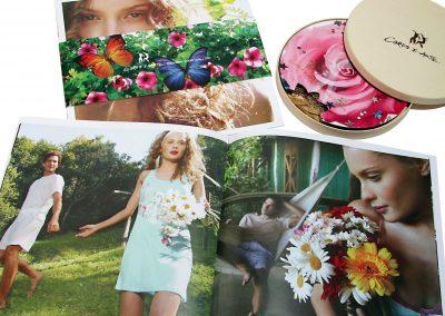 Projeto gráfico do catálogo de moda Corpo e Arte Underwear