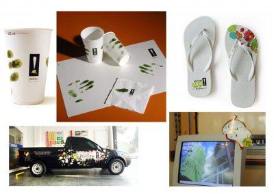 Projeto gráfico do cyber café e diversos materiais da loja Pintar